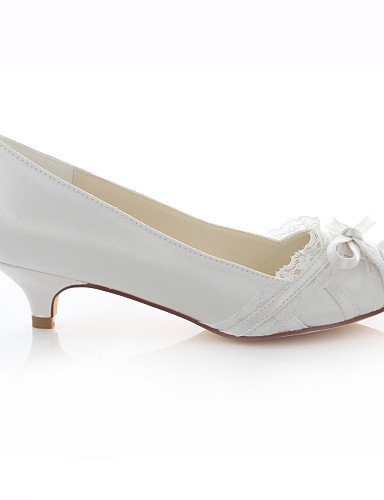 WSS 2016 Chaussures Femme-Mariage / Habillé / Soirée & Evénement-Ivoire-Talon Bas-Talons / Bout Ouvert / Bout Arrondi-Talons-Soie ivory-us6.5-7 / eu37 / uk4.5-5 / cn37