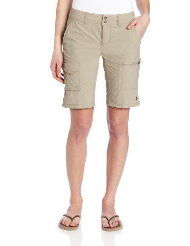 Columbia Cargo Wandershorts für Damen, Silver Ridge Cargo Short, Nylon, beige (Fossil), Größe: 2, AL4596 -