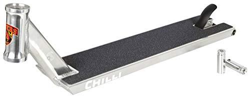 Chilli Pro Scooter Streetdeck GA Sign. 56 cm inklusive Pegs (Silber)