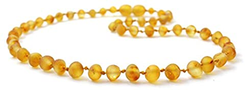 Raw Baltic Amber Necklace - 36 cm Length - Honey