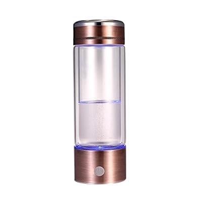 SIPOG Rich Hydrogen Wasserflasche ? Wiederaufladbare ionisierte Wasser Generator Glasflasche - 330ml