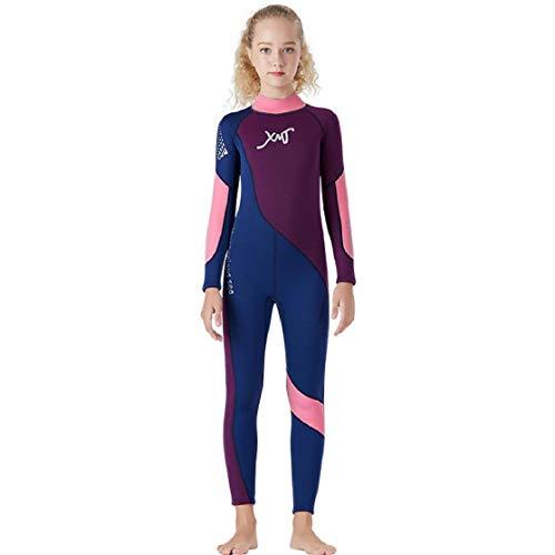 Vaycally Girls \u0026 Ladies Modesty Jumpsuit Badeanzug Surfing Suit Kurzarm UPF 50+ Schwimmkostüm Kids Scuba Einteiliger Tauchanzug Neopren Schnorchelanzug Surfing Swimwear