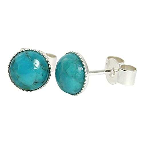 studs gold genuine earrings yellow buy stud turquoise earring l