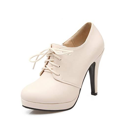 (Frauenpumpen Plattform Großhandel High Heels Frühling Herbst Damen Lace-Up Elegante Spike Heels Büro Karriere Schuhe)