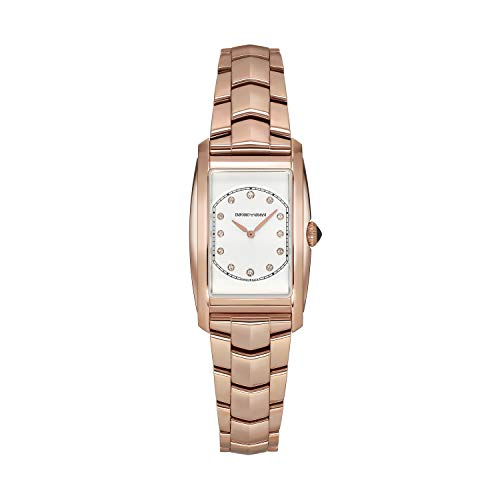Emporio Armani Swiss ARS8301 - Montre de Femme - Couleur Or Rose avec Diamants