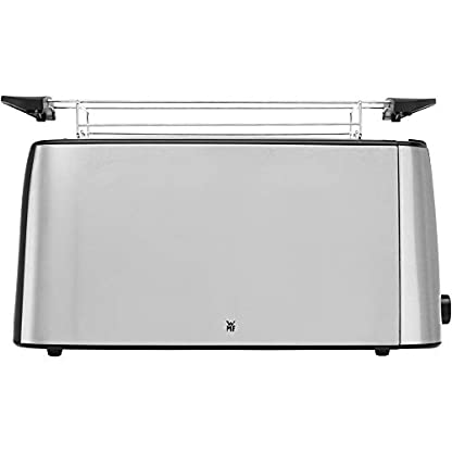 WMF-Bueno-Pro-Toaster-Langschlitz-4er-Toaster-Doppelschlitz-fr-4-Toast-oder-2-Brotscheiben-XXL-Toast-Aufwrm-Funktion-6-Brunungsstufen-edelstahl-matt