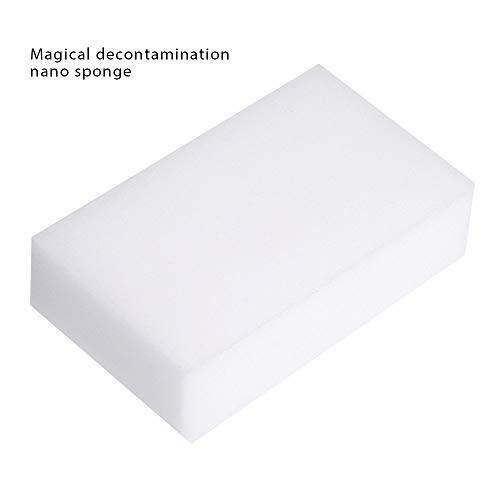 Emery Glas (Vektenxi Schwammreinigung Emery Magic Sponge 50Pack zum Waschen von Haushaltsgegenständen Küchenschwamm zum Entfernen von Schmutz, 10 * 7 * 3cm Langlebig und praktisch)