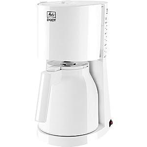 Melitta, Filterkaffeemaschine mit Thermkanne, Patentierter Aromaselector, Automatische Endabschaltung, Weiß, ENJOY Therm, 214433