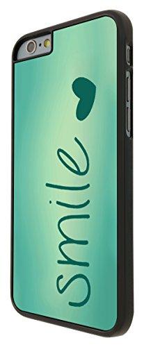 595-Vintage Shabby Chic Smile Love Heart Coque iPhone 66S 4.7Design Fashion Trend Case Back Cover Métal et Plastique-Noir
