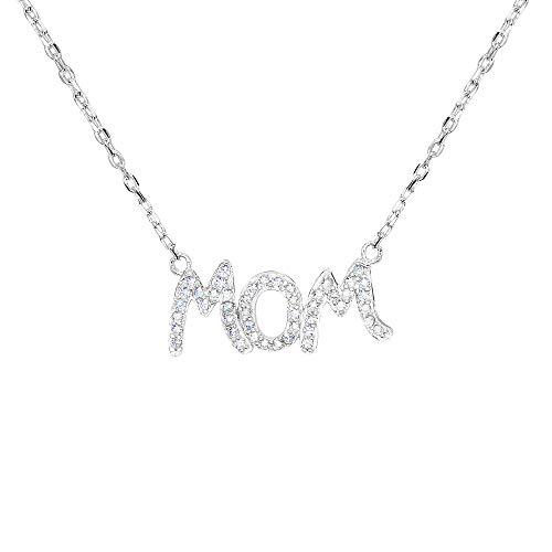 erling Silber CZ Mutters Geschenk Alphabet