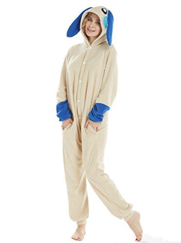 Tier Cosplay Kostüme Onesies Pyjama Halloween Party Snorlax Kaninchen Unisex-Adult Onepiece Nachtwäsche Weihnachten Kaninchen Blau ()