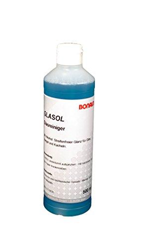 Bonalin Glasreiniger Glasol Anwendungsfertiger Glasreiniger 500ml für verglaste Flächen, Spiegel und Kacheln