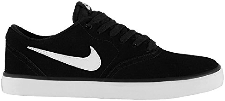 Nike SB Herren Solar Skate Schuhe kariert schwarz/weiß Casual Trainer Sneakers
