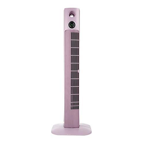 SWB Hauptfernsteuerungsventilator-Turmventilator ohne Blatt-Boden-Art Ultra-leise Timing-Klimaanlage, verwendbar für Familie, Büro (Color : Pink)