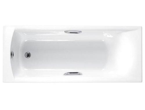 Carron Delta Rechteck-Badewanne, mit beidseitigen Griffen, Länge 1675mm - Delta-badewanne-griffe