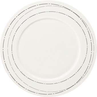 ASA à Table Assiette Argent avec Drapeau, Porcelaine, Blanc, 32 cm cm