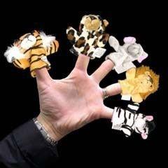 Animal Plush Finger Puppets - 12 Pack