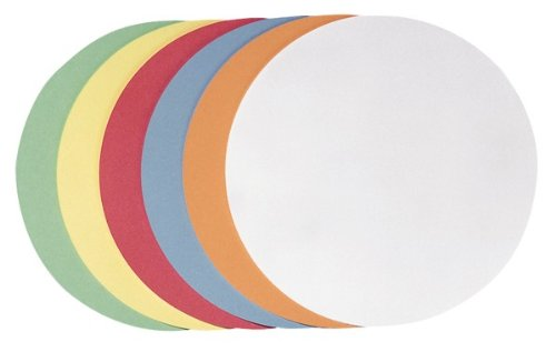 Franken UMZH 10 99 Moderationskarte Kreis klein, 95 mm, 250 Stück, sortiert