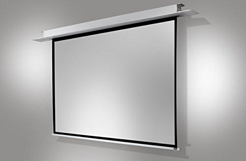 celexon tragbare Beamer-Leinwand mit vormontiertem Ständer mobile Stativ-Leinwand mit Tragegriff Schwarz Economy - 158 x 158 cm - 1:1 - Gain 1,0