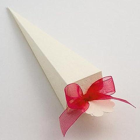 Cono favor de la boda–Sorgente (PK 10en embalaje plano, sin decoraciones)