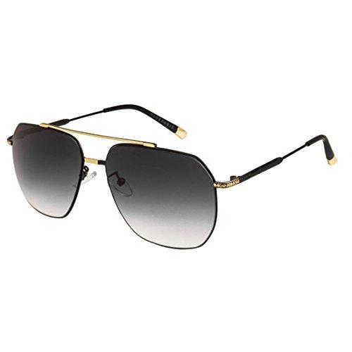 Grey Gradient Square Sunglass By Farenheit|SOC-FA-E90-111-Gold-Grey|