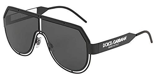 Dolce&gabbana 0dg2231 occhiali da sole, nero (3276/87), 59.0 uomo