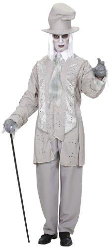 Widmann 9897D - Erwachsenenkostüm Geister Gentleman, Jacke mit Hut und Schal