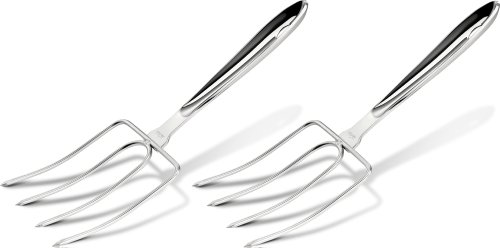 All Clad Utensil Set (All-Clad T167 Stainless Steel Turkey Forks Set, 2-Piece, Silver by All-Clad)