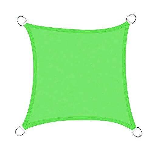 Greenbay Voile d'ombrage Carré | 3x3m Vert Clair | Une Protection des Rayons UV | Toile d'ombrage Auvent Pare-Soleil de Jardin