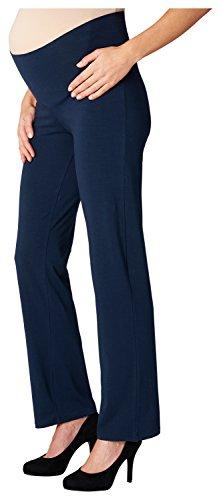 Noppies Damen Umstandsschlafanzughose Pants Jersey UTB Fleur 66600, Blau (Dark Blue C165), 40 (Herstellergröße: L)