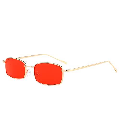 Junecat Unisex Small Square Metal Sonnenbrille Männer Frauen rechteckig Brillen UV400 Outdoor Leisure Sun Glasses