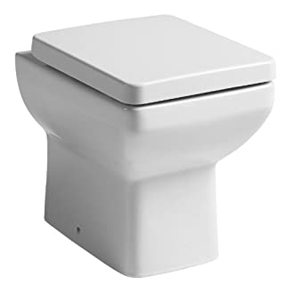 Tavistock Q60 460 Compact Mini Square Back to Wall Toilet Pan WC BTW Soft Close Seat