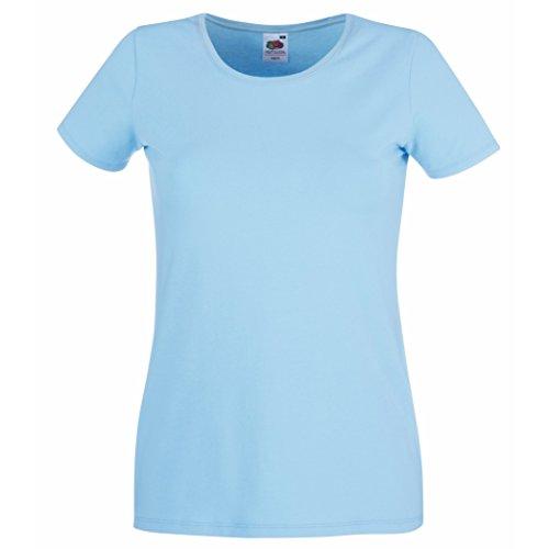 Fruit of the Loom T-shirt col ras du cou lady-fit SS053 Bleu - Bleu ciel