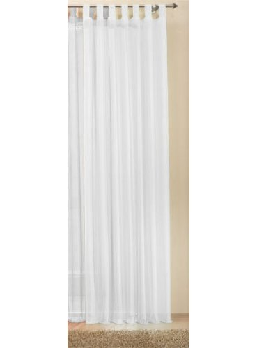 Schlaufenschal Gardine uni transparent Voile, 245x140, Weiß, 61175