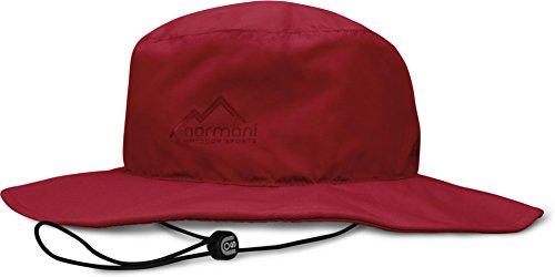 normani Wasserdichter Sonnenhut 2-in-1 Hut - 100% Wind- und wasserdicht, UV-Schutzfaktor 30+ [S-3XL] Farbe Burgund Größe XXL/63