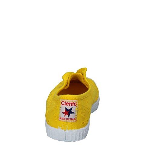 CIENTA 70998 Weiße Mädchenschuhe 21/27 elastisches Gewebe Gelb