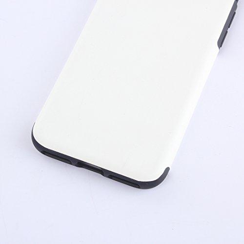 Hülle für iPhone 7 plus , Schutzhülle Für iPhone 7 Plus Crazy Horse Texture Soft PU Schutzmaßnahmen Leder Tasche ,hülle für iPhone 7 plus , case for iphone 7 plus ( Color : Pink ) White
