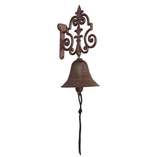 Clayre & Eef 6Y0456 Türglocke Hausglocke Glocke Gusseisen Braun 24,5 x 11 x 15,5 cm