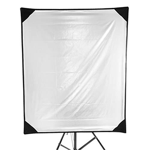 Ramingt-Home Licht-Reflektor 100x120cm 4-in-1-Metall-Flag-Panel Set Reflektor mit Soft-Weiß, Schwarz, Silber und Gold Abdeckung Tuch mit Tragetasche for Foto für Fotografie Studio-Beleuchtung