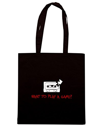 T-Shirtshock - Borsa Shopping TF0046 inspired by SAW Nero
