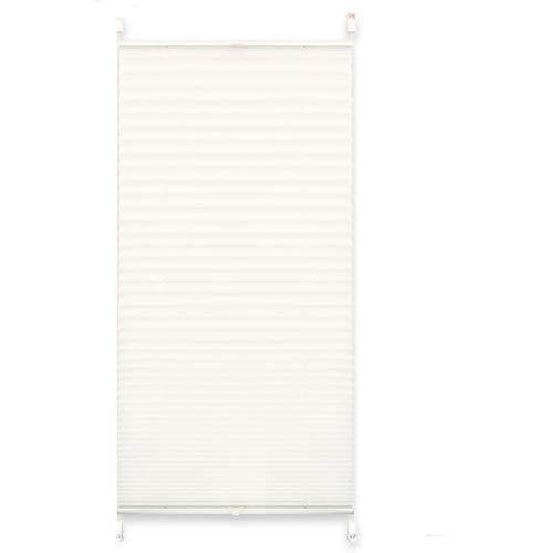 Tenda avvolgibile plissettata, con supporti a incastro senza fori, tessuto, weiß crash, 50 x 140 cm