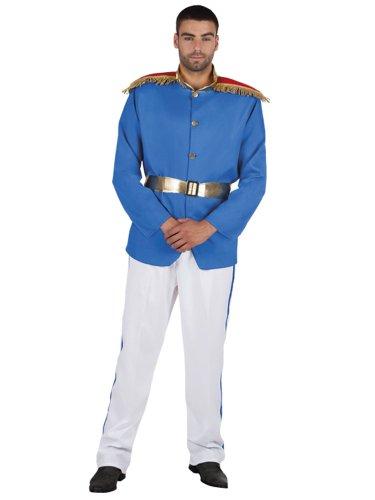 Elite principe azzurro uomo Fancy Dress Royal Fairytale Book week costume da adulti