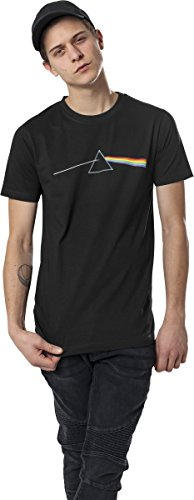 MERCHCODE Herren Pink Floyd Dark Side of The Moon Tee T-Shirt, Black, L