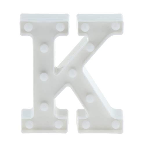 F Fityle A-Z Buchstaben LED Lightbox Lichtbox Leuchtkasten Leuchtschild zum Aufstellen, Auswahl - K