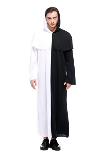 VENI MASEE Friar Medieval Hooded Monk Renaissance Priest Robe Costume Cosplay