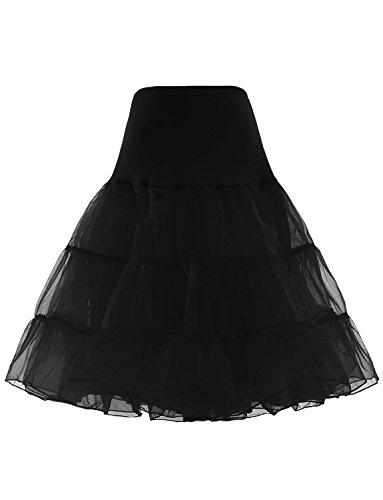 BeiQianE Damen 1950er Jahre Vintage Petticoat Knie-Länge Tutu Rock Unterrock Half Slips Krinoline für Hochzeit (Slip Hochzeit Rock)