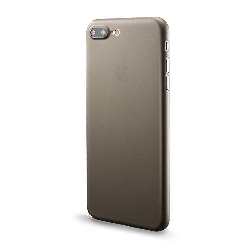 iPhone 8 plus Hülle und iPhone 7 Plus Hülle( 5.5 inch),0.3mm Ultradünne Weltweit Dünnste Hart Schützen Abdeckung Sstoßstange Leichtes für iPhone 7 Plus(2016)&iPhone 8 plus(2017)Grau Grau 0.3mm