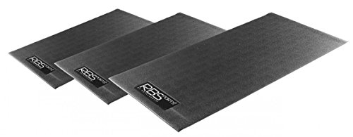 Dreams4Home 'Unterlegmatte' - Unterlegmatte für Laufbänder, Crosstrainer, Hometrainer, Fitnessgeräte, rutschfester NBR Schaumstoff, in 3 Größen bestellbar, besonders geräusch absorbierend, dämpfend, in schwarz, Ausführung:Größe 100x65x0.4cm