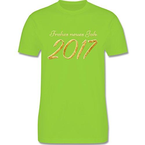 Weihnachten & Silvester - Happy New Year 2017 Gold Silvester - Herren Premium T-Shirt Hellgrün