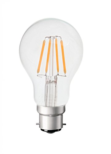 V-TAC B22 Classic Retro Filament Bayonet Bulbs | 5W= 50W Equivalent | 2700K Warm White | 600Lm | Non-Dimmable | Energy Saving Light Bulbs| 6-Pack